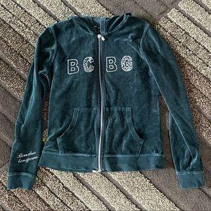 Bcbg velour track suit jacket size M
